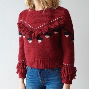 LOVESHACKFANCY Atlas Cropped Pullover Sweater